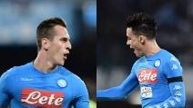 Milik e Callejon trascinano il Napoli contro il Bologna