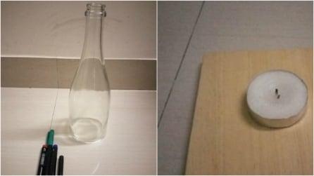 Ricicla una comune bottiglia di vetro: un'idea fai da te semplice e creativa