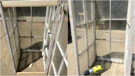 Ricicla tre vecchie finestre: un'idea ingegnosa che renderà unico il vostro giardino