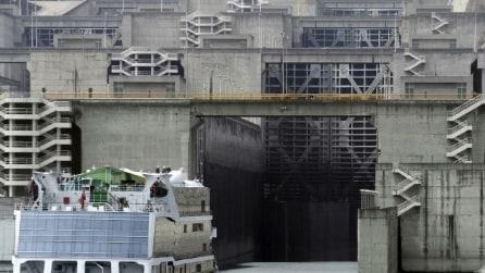 Ecco la più grande opera del mondo per il sollevamento verticale di navi