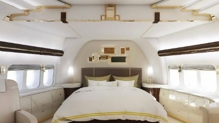 A bordo del jet privato più lussuoso del mondo