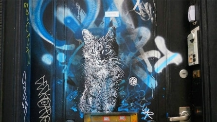 La street art ama i gatti: l'arte di Christian Guémy