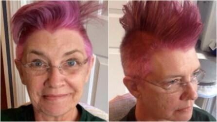 Si tinge i capelli di rosa: ciò che si nasconde dietro questi scatti vi commuoverà