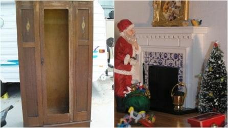 Un vecchio armadio diventa un'opera d'arte: non crederete ai vostri occhi