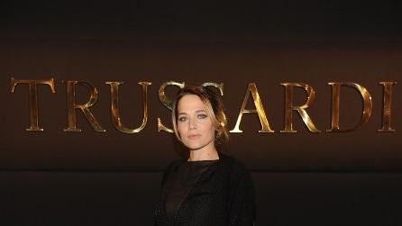 Laura Chiatti in splendida forma alla sfilata Trussardi