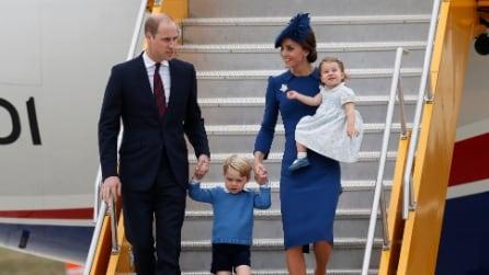 L'arrivo dei principini George e Charlotte in Canada