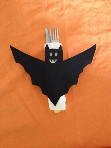 Segnaposto a forma di pipistrello