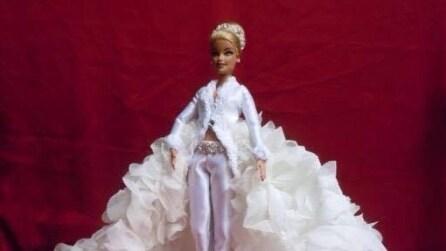 Gli abiti da sposa disegnati per le Barbie