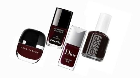 Il colore per la manicure dell'autunno è il Rouge Noir