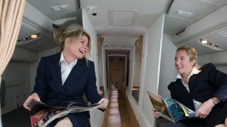 All'interno delle cabine segrete degli assistenti di volo
