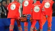 Italia-Spagna: Montolivo esce in barella per infortunio al ginocchio sinistro
