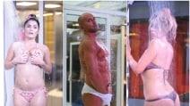 La mania delle docce hot al Grande Fratello Vip: da Bettarini a Valeria Marini