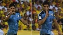 Suarez bacia le tre dita dopo il gol: rappresenta l'amore per la sua famiglia