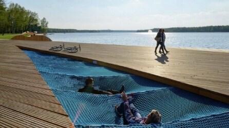La passeggiata sul lago Paprocany: da noiosa riva a luogo d'attrazione