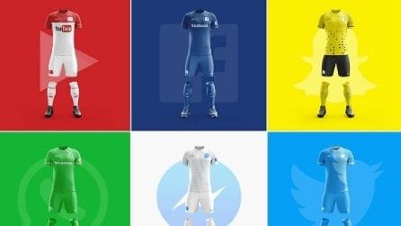 Se le app più famose fossero squadre di calcio? Graphic designer crea le divise