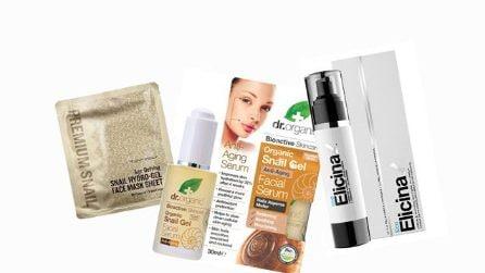 I cosmetici a base di bava di lumaca