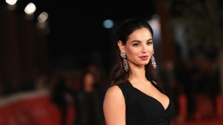 Francesca Chillemi: il look total black al Festival del Cinema di Roma