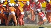 MotoGp Giappone, la caduta di Jorge Lorenzo a Motegi