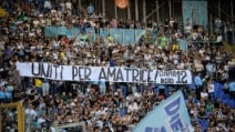 Lazio-Bologna, lo splendido messaggio della Curva Nord per Amatrice
