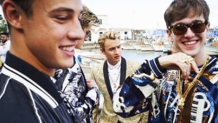 """I """"millenials"""" a Capri posano per la nuova campagna di Dolce&Gabbana"""