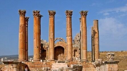 Le splendide rovine di Jerash, un sito archeologico romano in Giordania