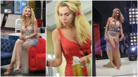 Paillettes e cristalli: i look di Valeria Marini al GF Vip
