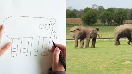 Papà trasforma i disegni del suo bambino di 6 anni in realtà: le immagini virali sul web