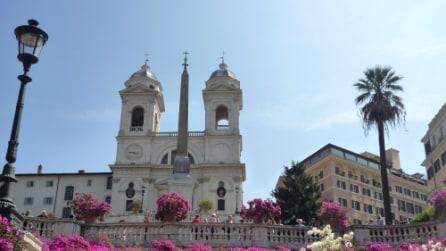 Le immagini di Piazza di Spagna a Roma
