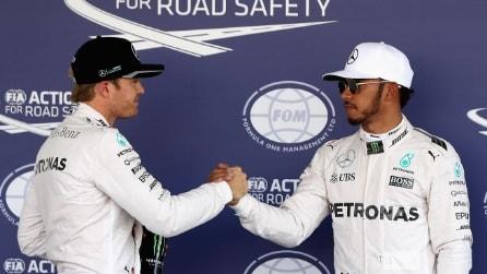 F1 Gp Messico: Hamilton si prende la pole position, Rosberg non molla