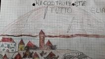 """Terremoto, Castelluccio vista dagli occhi di un bambino: """"Ricostruirete tutto"""""""