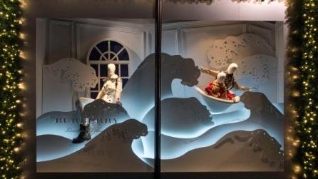 Le nuove vetrine natalizie di Harrods