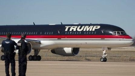 Sul jet personale di Donald Trump