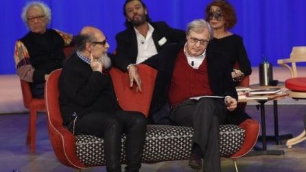 Roberto D'Agostino e Vittorio Sgarbi al Maurizio Costanzo Show