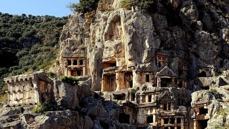 Le foto della necropoli di Myra in Turchia