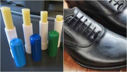 Balsamo per le labbra sulle scarpe di pelle: 12 usi insoliti che vi stupiranno