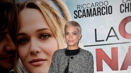 Il look di Elodie sul red carpet della prima del film