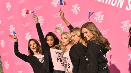 L'arrivo a Parigi degli angeli di Victoria's Secret