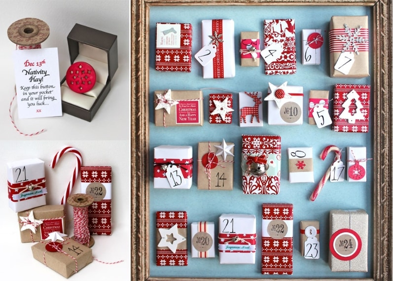È possibile utilizzare qualsiasi scatola di fiammiferi: basta rivestirle con carta da regalo e riempirle con piccoli regali per avere il proprio calendario dell'avvento.