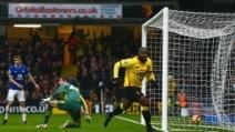 Okaka show, gran gol di tacco in Watford-Everton