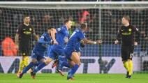 Premier League, le immagini Leicester-Manchester City