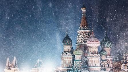 La magia dell'inverno a Mosca