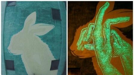 I murales fotoluminescenti sono l'ultima tendenza della street art