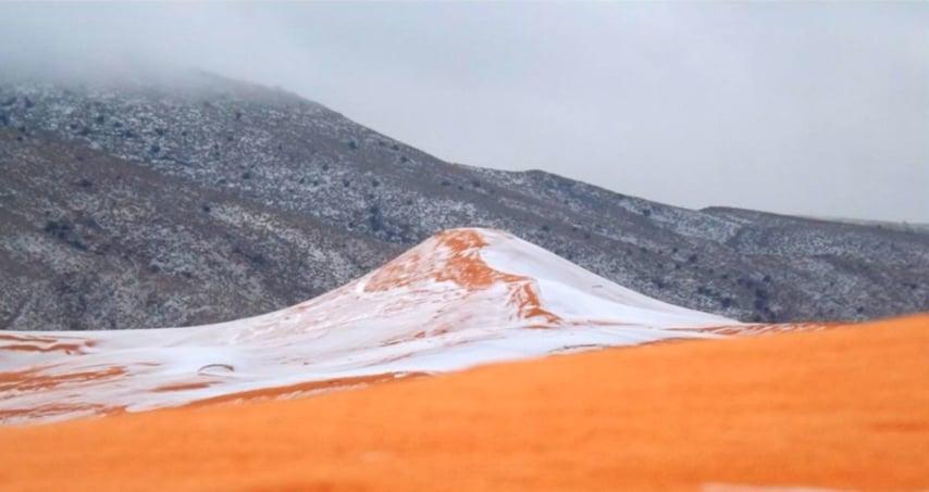 Il Sahara sotto la neve. Non si registrava una nevicata simile da 37 anni.