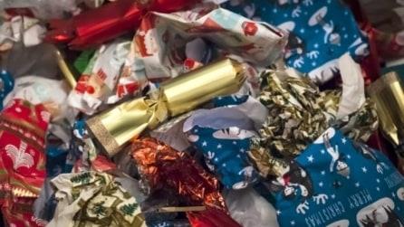 10 modi intelligenti per riciclare la carta da regalo natalizia