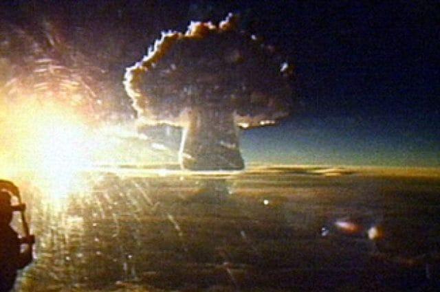 Il 30 ottobre 1961 fu fatta esplodere dall'ex Unione Sovietica la cosiddetta 'Bomba Zar', la bomba all'idrogeno che raggiunse una potenza di 50 megatoni. Foto di Wikipedia https://en.wikipedia.org/wiki/Tsar_Bomba#/media/File:Tsar_photo11.jpg