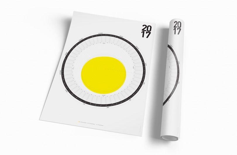 Disponibile come un poster di dimensioni PDF, questo calendario stampabile ti dà le ore di sole al giorno in base alla località.
