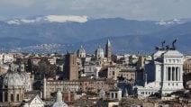 Neve sui monti che circondano Roma