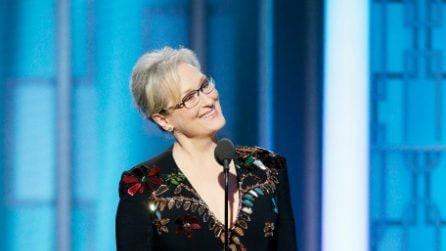 Il look di Meryl Streep ai Golden Globes 2017