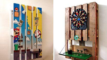 4 modi originali per fare una parete attrezzata con i pallet