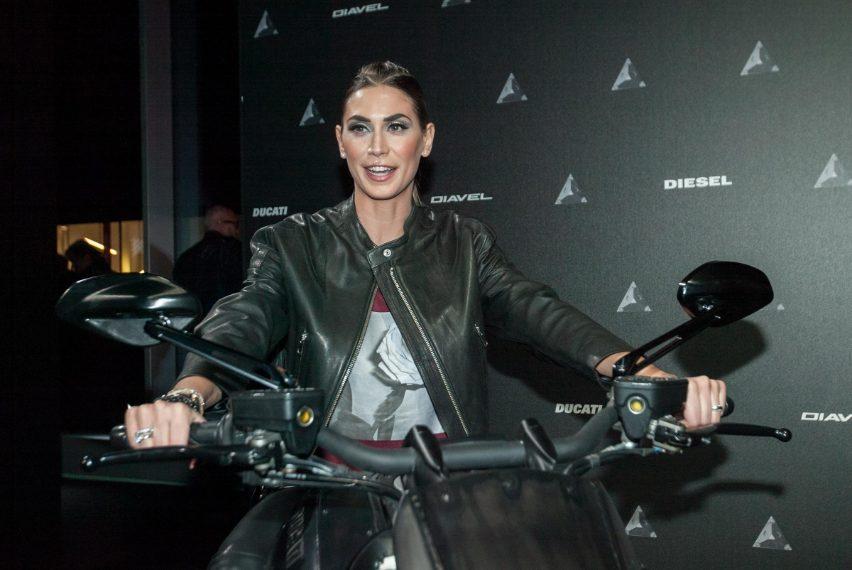 Melissa Satta all'evento Diesel e Ducati